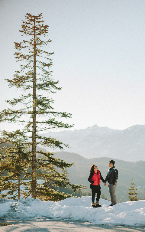 whistler winter engagement natalie justin vancouver