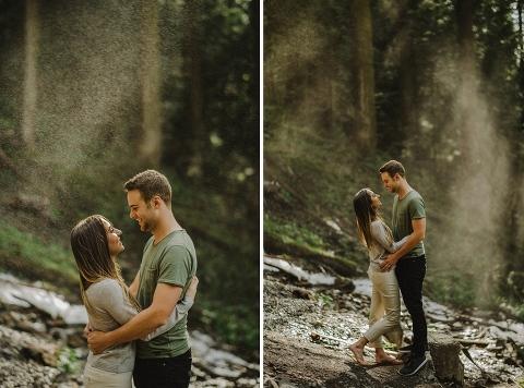bridal veil falls engagement