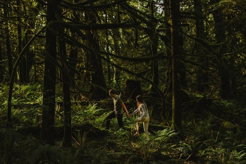 chilliwack forest engagement photos