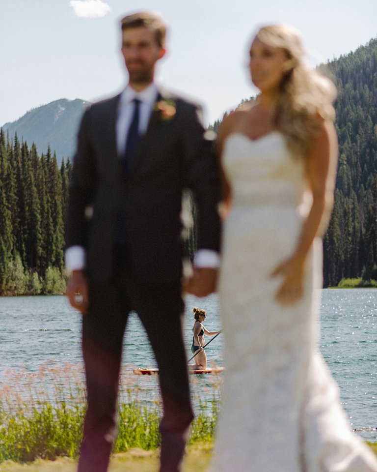 british columbia lake wedding