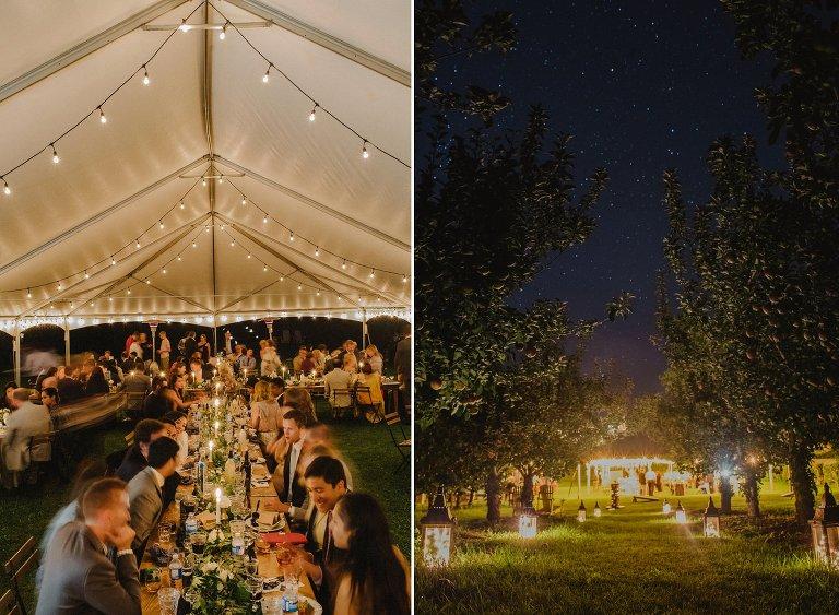 unique tent wedding details