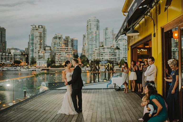 first dance at bridges restaurant in vancouver