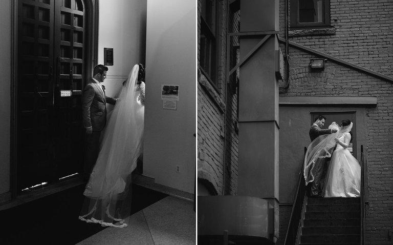 unique vancouver church wedding portraits