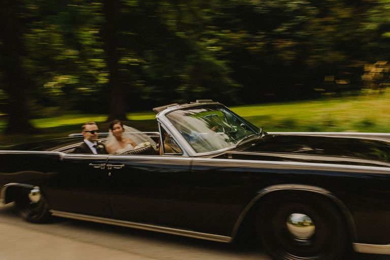 black vancouver wedding car
