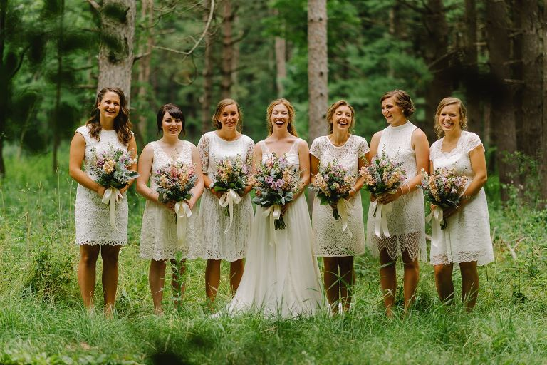 wisconsin forest wedding