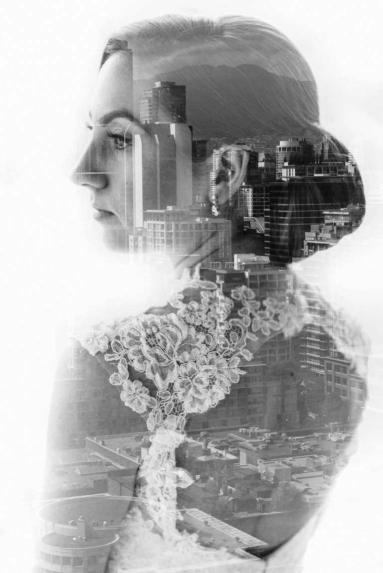unique bridal double exposure