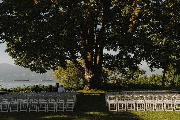 unique brock house ceremony setup