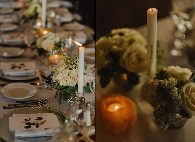 romantic wedding details at brock house