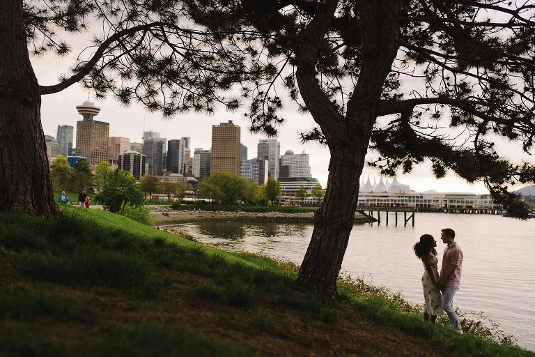 engagement session at crab park in vancouver