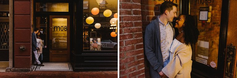 engagement session in gastown vancouver