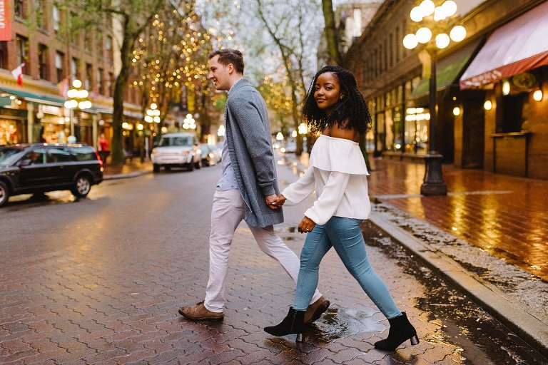 casual gastown engagement session