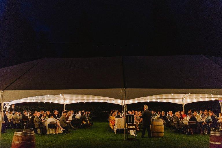 tent wedding reception in kelowna