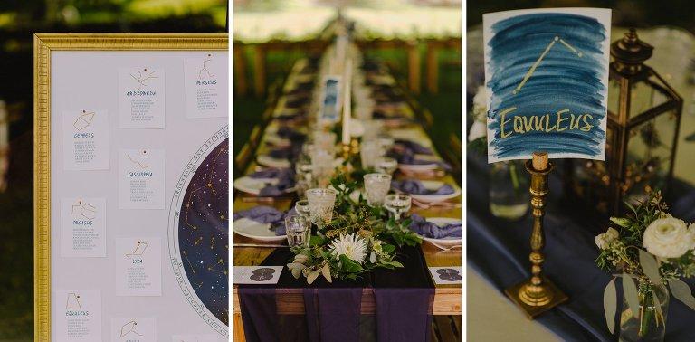 constellation wedding details