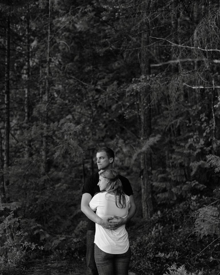unique harrison lake engagement session