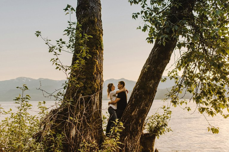 harrison lake engagement session