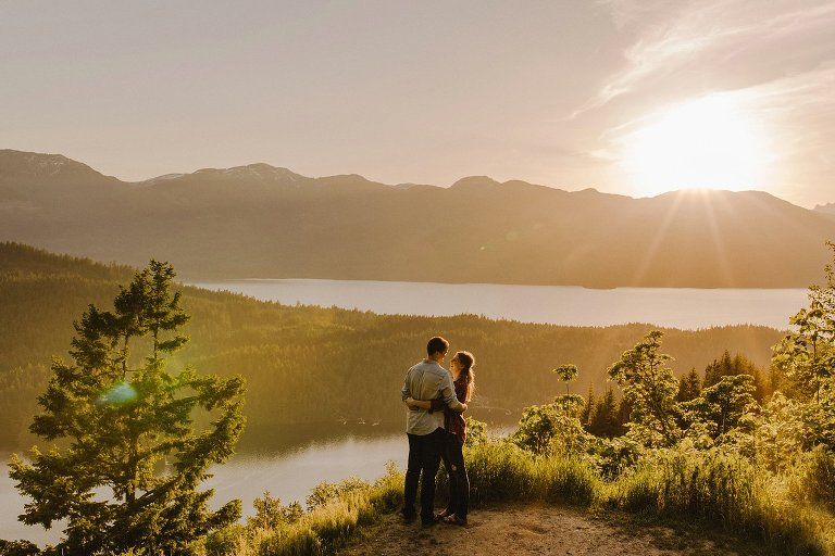 epic bc lake engagement