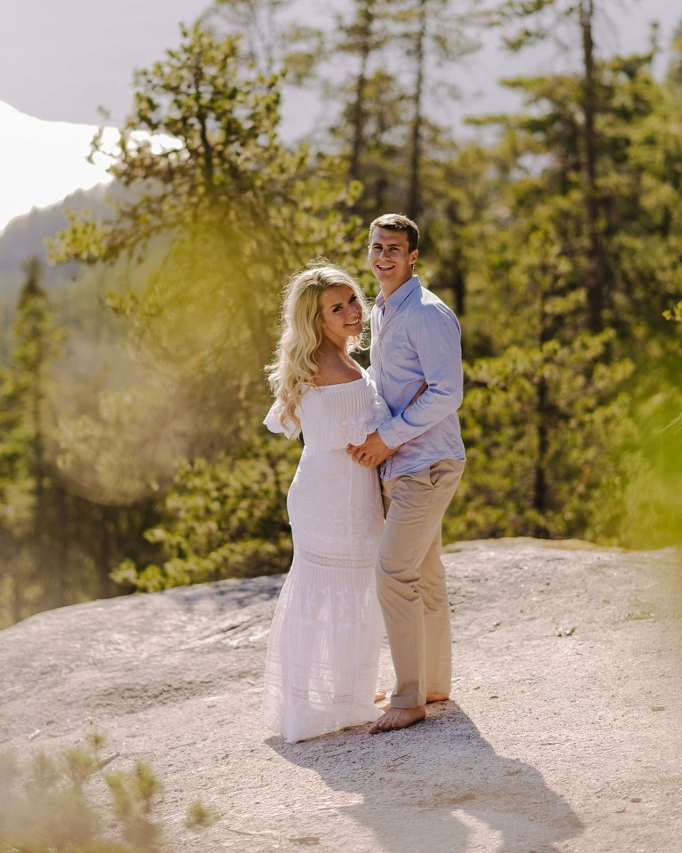 sea to sky gondola engagement portrait