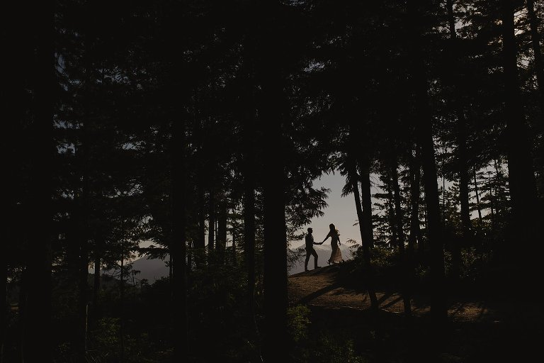 unique squamish engagement portrait