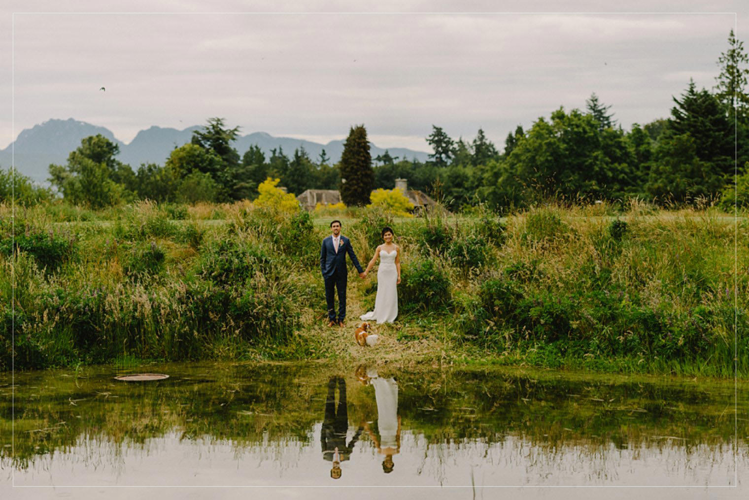 wedding portrait at cecil green park house by vancouver wedding photographer mathias fast