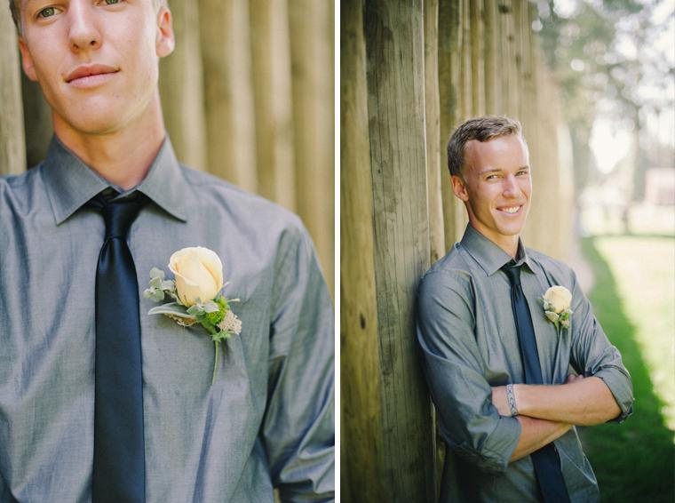 unique groom portrait pose