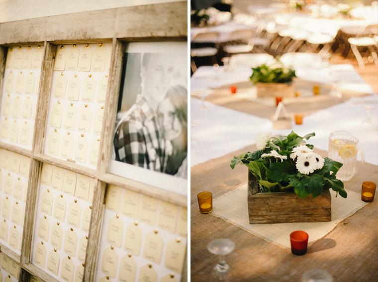 DIY Vintage Wedding seating chart