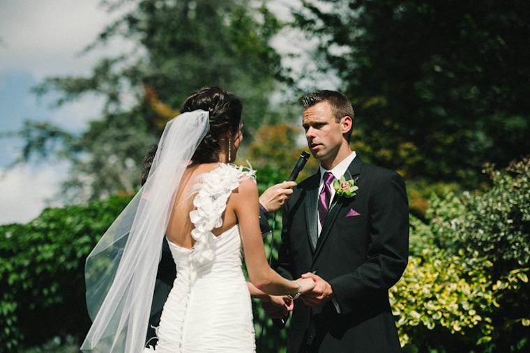 outdoor wedding ceremony in surrey bc