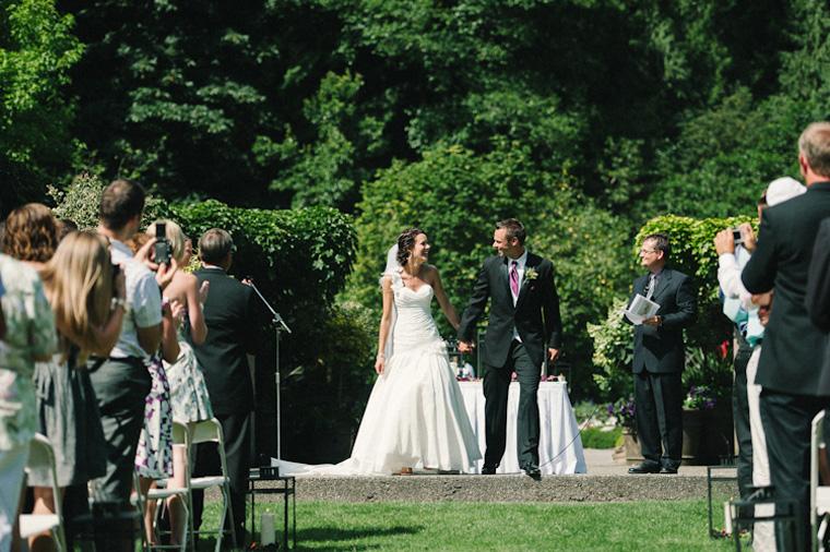 outdoor wedding in vancouver park