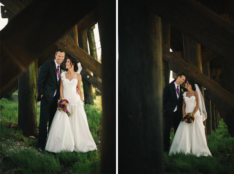 wedding portraits at white rock pier