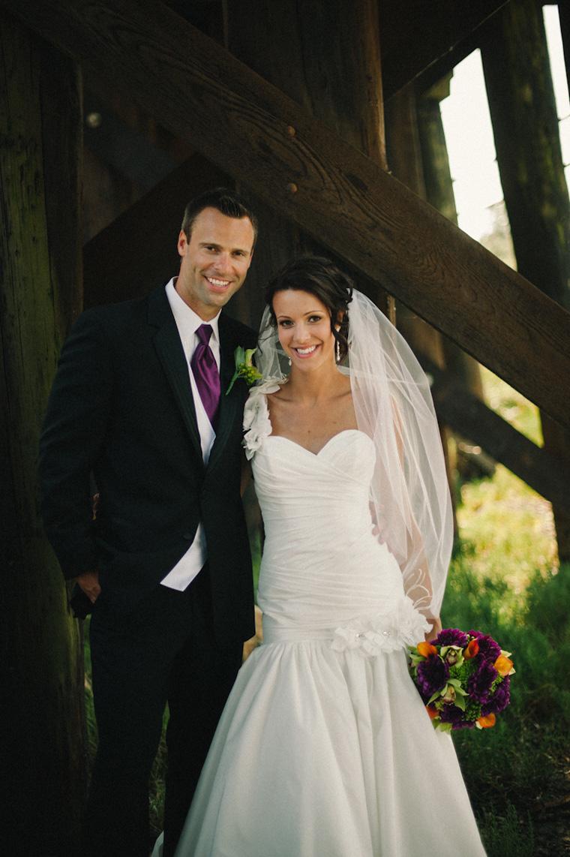 unique white rock wedding photo