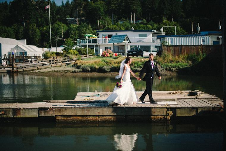white rock dock wedding photo