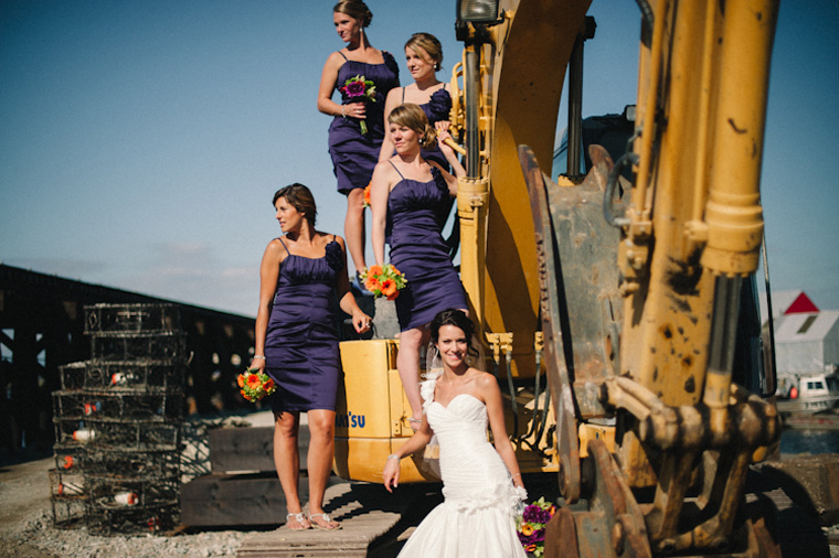 wedding picture at vancouver industrial park