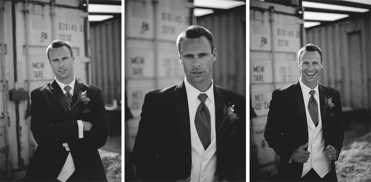 groom portrait in vancouver industrial area