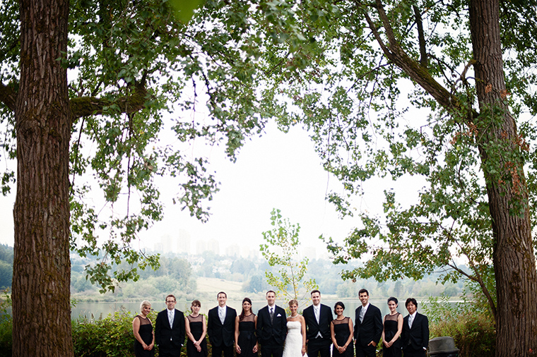 Bridal Party Pictures At Deer Lake Park Vancouver And Destination Wedding Photographer