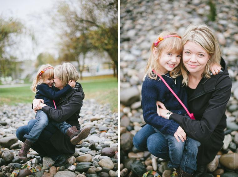 rainy vancouver family portraits