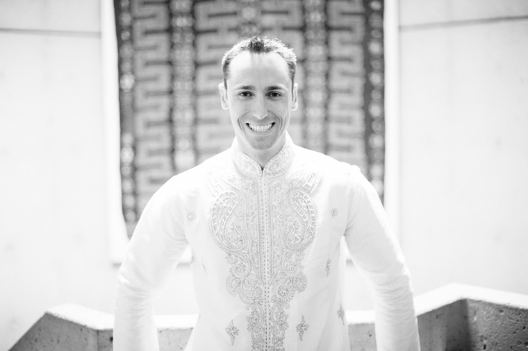 caucasion groom in indian wedding outfit vancouver