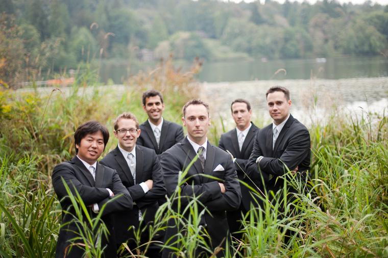 groomsmen picture at deer lake park burnaby