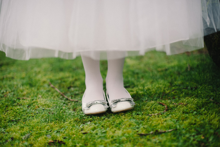 Cute white and silver flower girl shoes