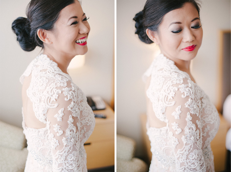 beautiful vancouver bride getting ready