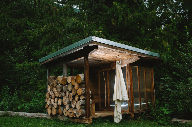 Rustic Wedding Dress in Forest