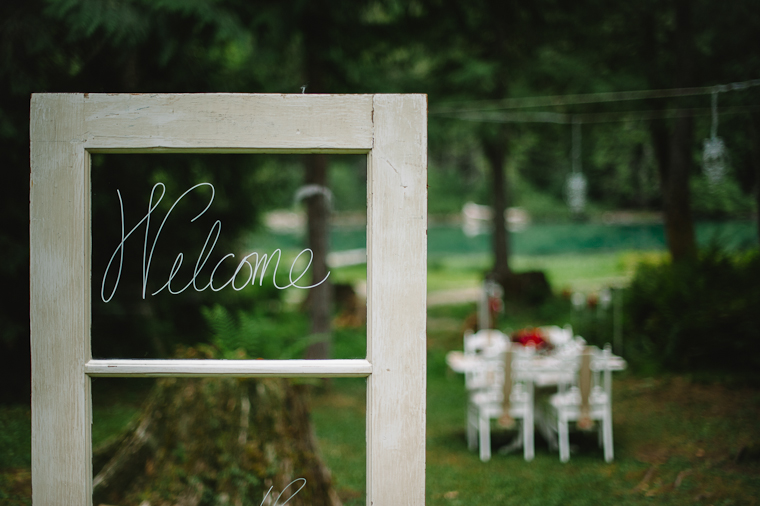 Welcome Door Wedding Decor