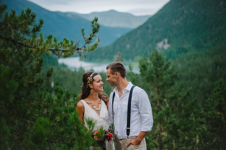 BC Moutain Wedding Portrait