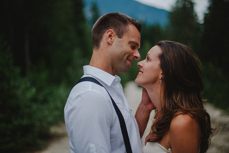 Unique BC Forest Wedding Portrait