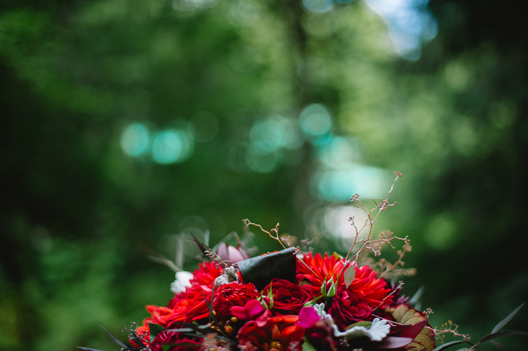Rustic Red Wedding Centrepiece Flowers