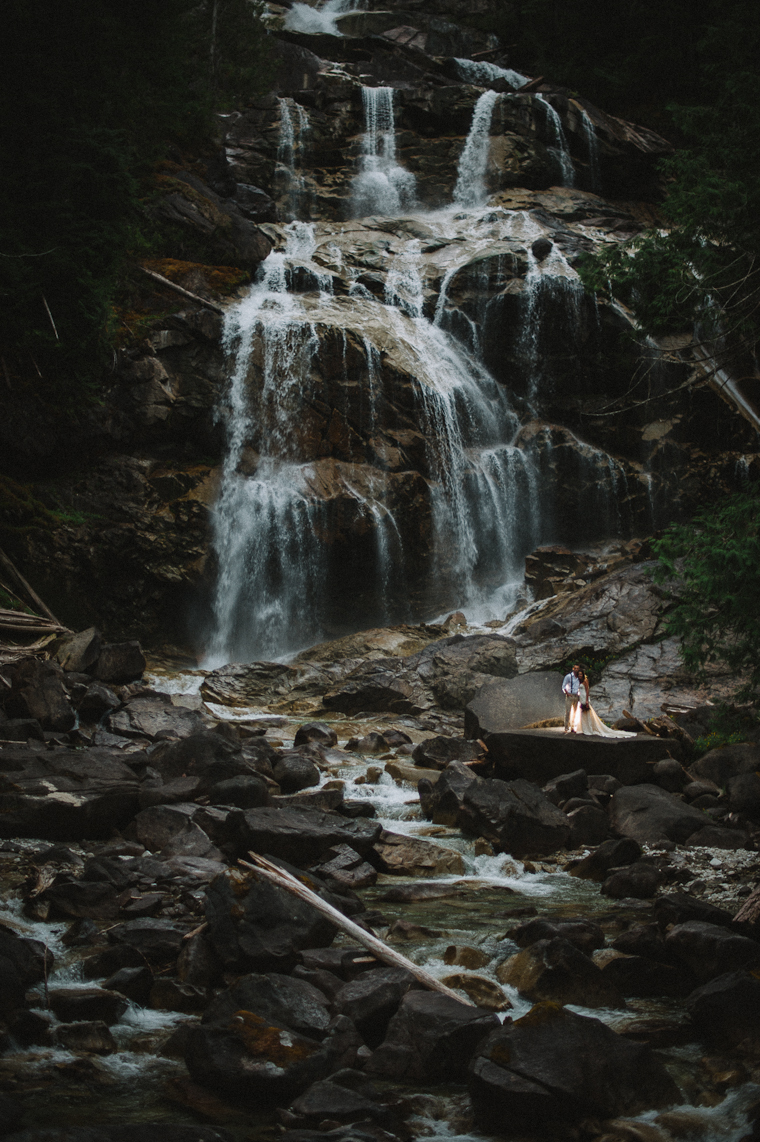 Destination Wedding Pictures Waterfall