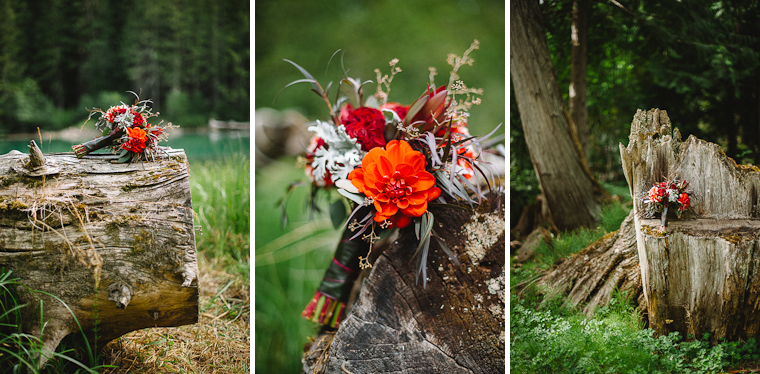 Rustic Red Wedding Flowers