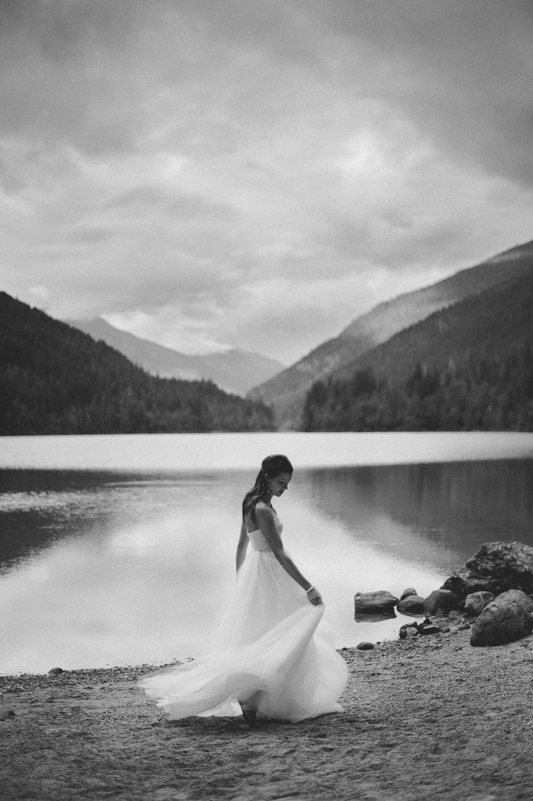 Elegant Forest Lake Wedding Photo