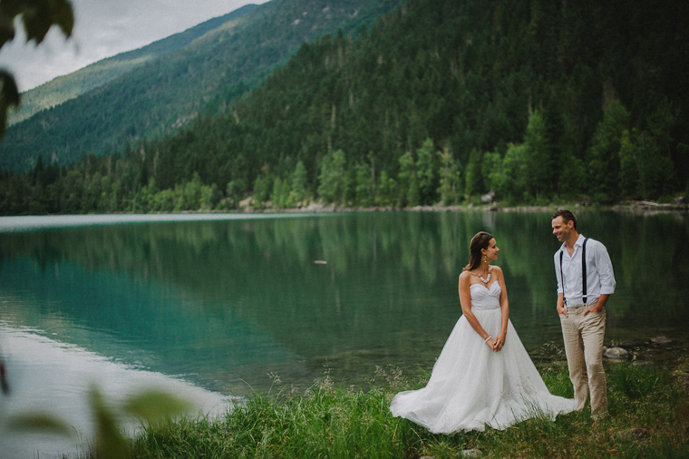 Rustic Forest Wedding Portrait