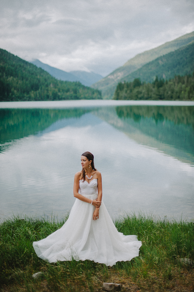 Bridal Portrait by a Forest Lake