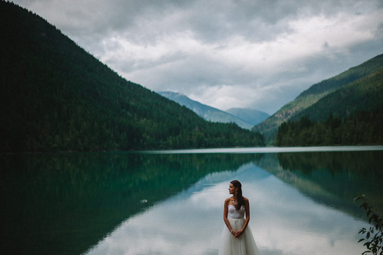 Bridal Portrait in Mountains of BC