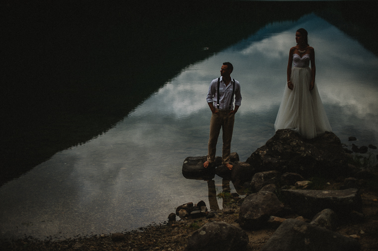 Wedding Picture in BC Mountains